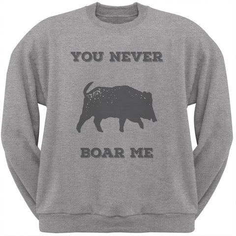 PAWS - You never Boar Me Heather Crew Neck Sweatshirt