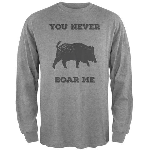 PAWS - You never Boar Me Heather Long Sleeve T-Shirt