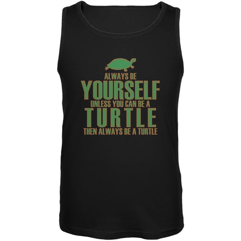 Always Be Yourself Turtle Black Adult Tank Top