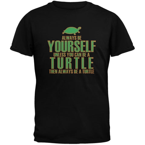 Always Be Yourself Turtle Black Youth T-Shirt