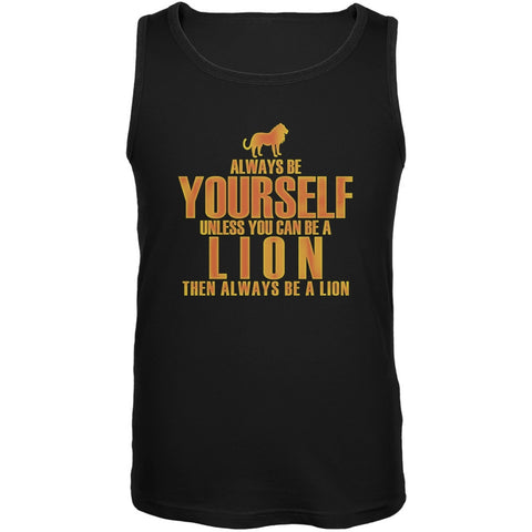 Always Be Yourself Lion Black Adult Soft Tank Top