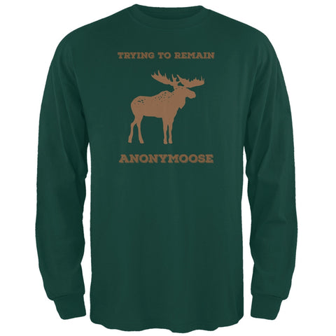PAWS - Moose Trying to Remain Anonymoose Green Long Sleeve T-Shirt