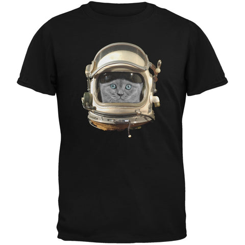 Astronaut Cat Black Youth T-Shirt