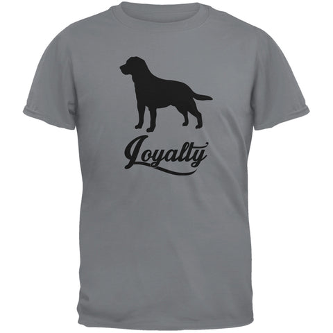 Labrador Loyalty Storm Grey Adult T-Shirt