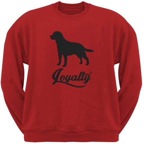 Labrador Loyalty Red Adult Crew Neck Sweatshirt