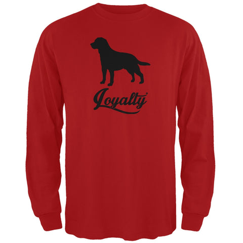 Labrador Loyalty Red Adult Long Sleeve T-Shirt