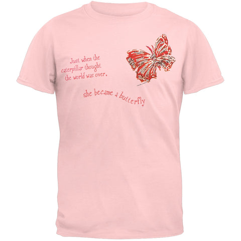 Caterpillar Becomes A Butterfly Adult T-Shirt