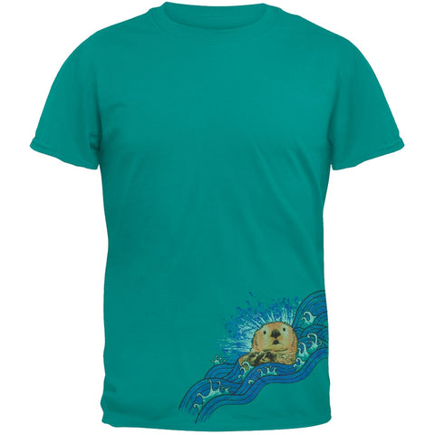 Sea Otter On Wave Adult T-Shirt