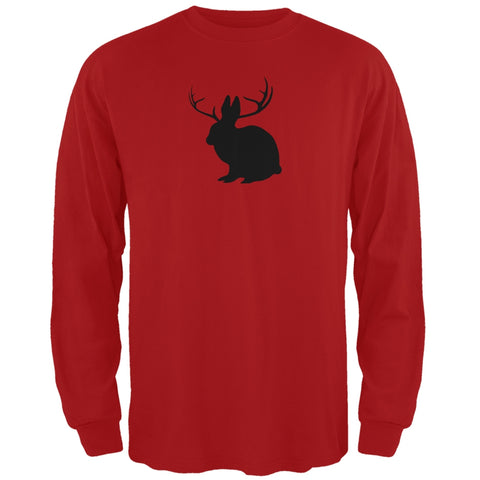 Jackalope Red Adult Long Sleeve T-Shirt
