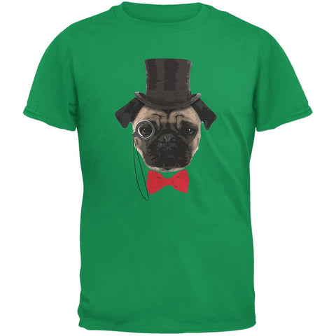 Fancy Pug Irish Green Youth T-Shirt