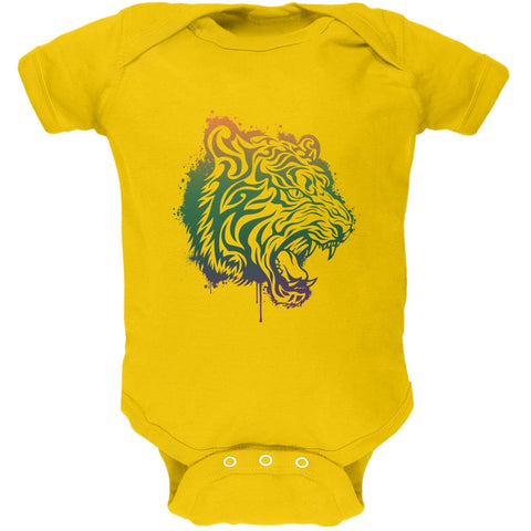 Splatter Tiger Yellow Soft Baby One Piece