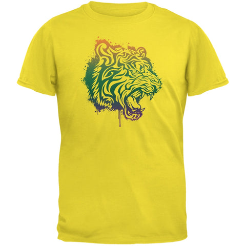 Splatter Tiger Yellow Youth T-Shirt