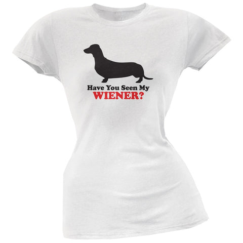 Have You Seen My Weiner White Soft Juniors T-Shirt
