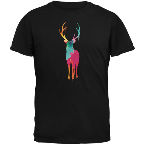 Splatter Deer Black Youth T-Shirt