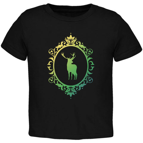 Deer Silhouette Black Toddler T-Shirt