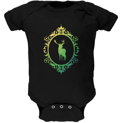 Deer Silhouette Black Soft Baby One Piece
