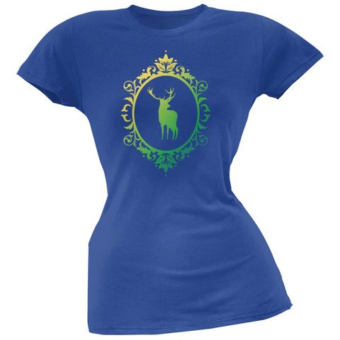 Deer Silhouette Royal Soft Juniors T-Shirt