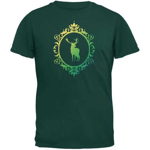 Deer Silhouette Forest Green Youth T-Shirt
