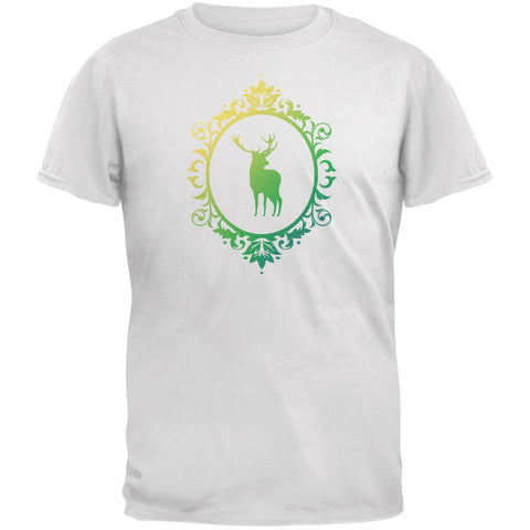 Deer Silhouette White Youth T-Shirt