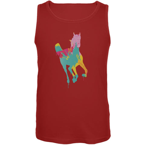 Splatter Horse Red Adult Tank Top
