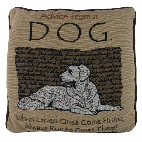 Advice From a Dog Throw Pillow