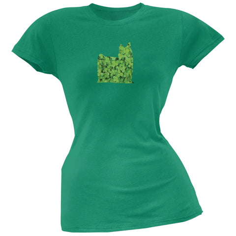 St. Patricks Day - Yorkshire Terriers Shamrock Kelly Green Soft Juniors T-Shirt