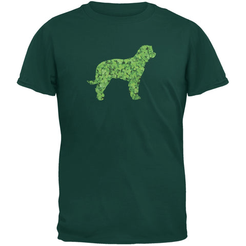 St. Patricks Day - Labrador Retriever Shamrock Forest Adult T-Shirt