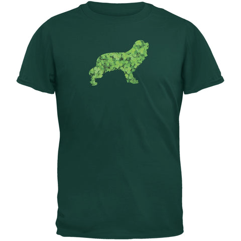 St. Patricks Day - Cavalier King Charles Shamrock Forest Green Adult T-Shirt