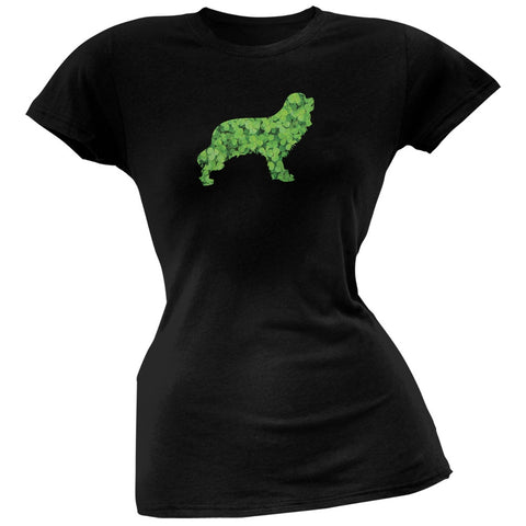 St. Patricks Day - Cavalier King Charles Shamrock Black Soft Juniors T-Shirt