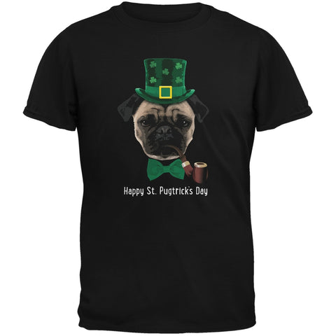 St. Patrick's - Pugtrick's Day Funny Pug Black Youth T-Shirt