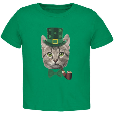 St. Patrick's Funny Cat Kelly Green Toddler T-Shirt