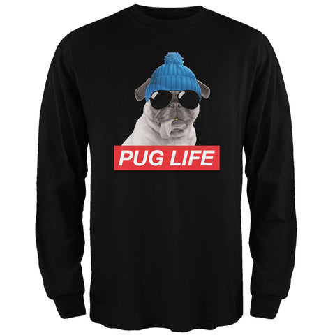 Pug Life Adult Black Long Sleeve T-Shirt