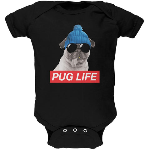 Pug Life Black Baby One Piece