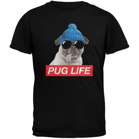 Pug Life Adult Black T-Shirt