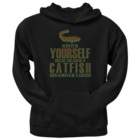 Always Be Yourself Catfish Black Adult Hoodie