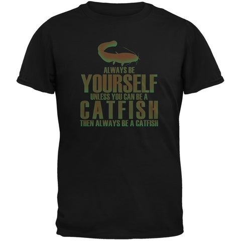 Always Be Yourself Catfish Black Youth T-Shirt