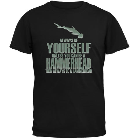 Always Be Yourself Hammerhead Shark Black Youth T-Shirt
