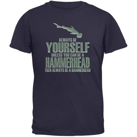 Always Be Yourself Hammerhead Shark Navy Youth T-Shirt