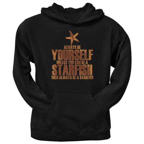 Always Be Yourself Starfish Black Adult Hoodie