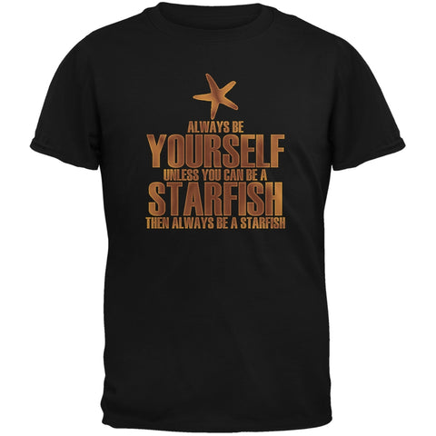 Always Be Yourself Starfish Black Youth T-Shirt