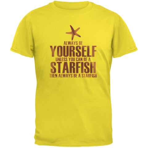Always Be Yourself Starfish Yellow Youth T-Shirt