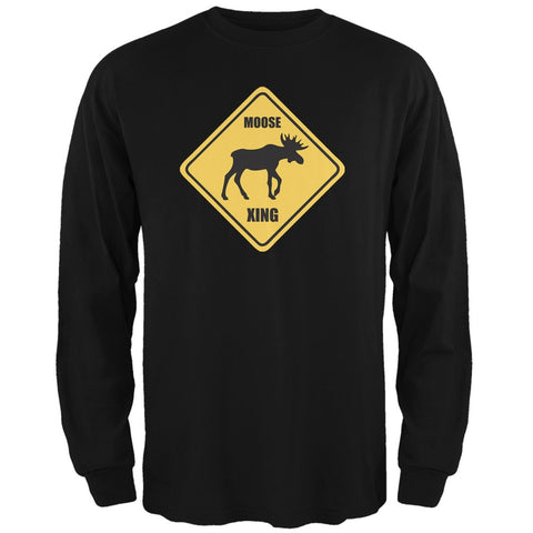 Moose XING Black Adult Long Sleeve T-Shirt