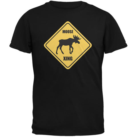 Moose XING Black Adult T-Shirt