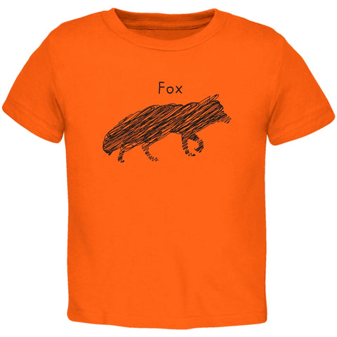Fox Scribble Drawing Orange Toddler T-Shirt