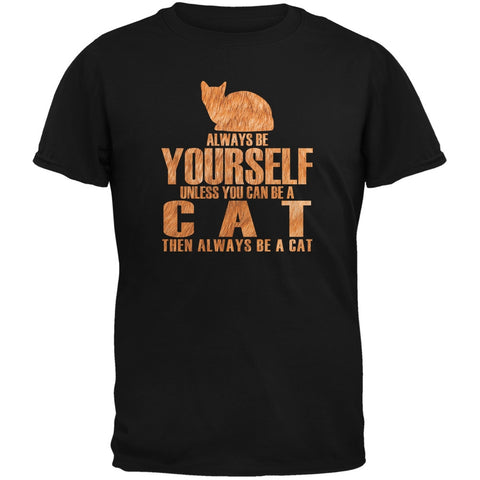 Always Be Yourself Cat Black Youth T-Shirt