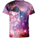 Galaxy Cat All Over Adult T-Shirt