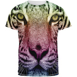 Rainbow Tiger All Over Adult T-Shirt