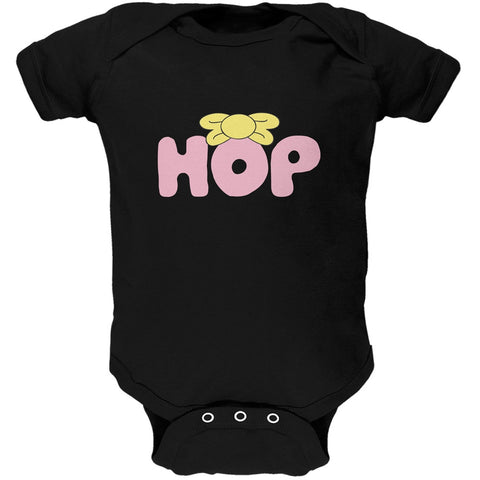 Easter - Hop Girls Bow Tie Black Soft Baby One Piece