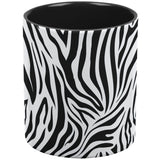 Zebra Print White/Black All Over Coffee Mug