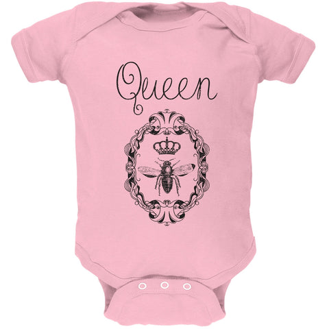 Queen Bee Light Pink Soft Baby One Piece